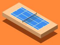 Isometric Tennis Court
