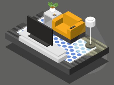 Isometric Couch Potato