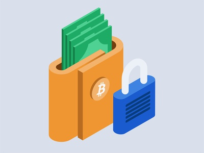 crypto 3 eos bitcoin illustration money wallet isometric crypto exchange crypto currency crypto wallet crypto
