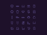 iCONDAY - shopping clothes icons