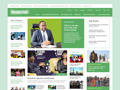 News Site entertainment sports government politics green magazine news site clean template news homepage