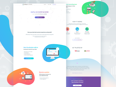 Simplio - Actionable Insights, Instant Business Value aws data driven solution one page website landing page ui design technology art add on customer experience data insights
