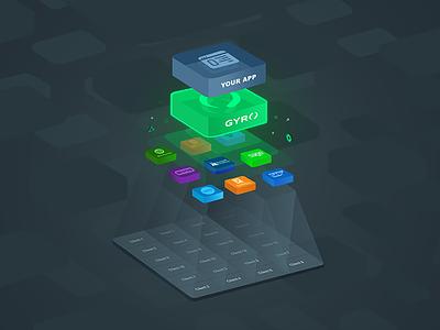 Gyro - Accounting API Infographic logos icon branding api api vector accounting api infographic graphic vector infographic