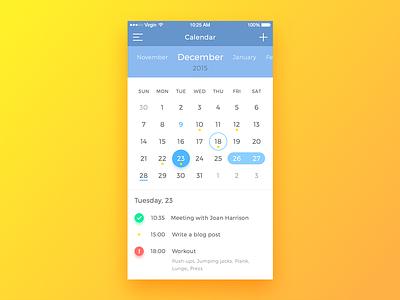 Calendar App task todo list list todo ui ux android ios app sketch mobile calendar