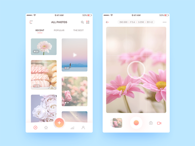 Photo App mobile ui ux picture android ios sketch social app photo app image photo social