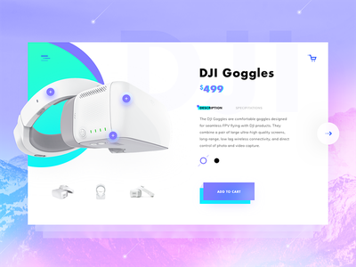 Goggles Product Page store shop commerce ecommerce product page product