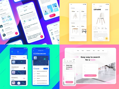 My Top4Shots of 2018 map ui responsive design photo app delivery app ui kit ecommerce app mobile web