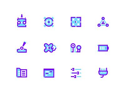 Drone Icons app geometric logo ui illustration icon pack icons icon drone