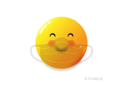 cute smiley mask up emoji glassmorphic glassmorphism vector illustration vector art use mask coronavirus mask covid-19 cute emotes emojis smiley face smiley cute art