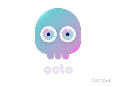 cute octopus vector illustration skull illustration skull art skull cute illustration cute animal cute art vector cute