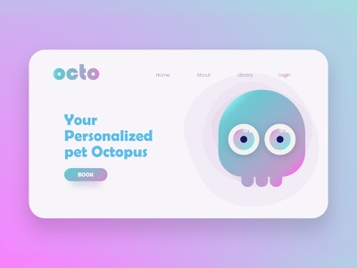 Minimal Pet Shop UI octopus logo octopus website flat design modern website design minimal website design minimalistic website designer ui design ui  ux uiux website concept vector design website design website