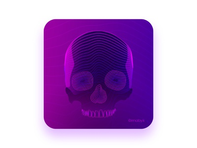 SKULL NFT cyberpunk style cyberpunk2077 neon glow neon light neon skull art website pink purple skull and crossbones vector art vector illustration vector illustration gradient design gradient color nftart nft skull logo skull art
