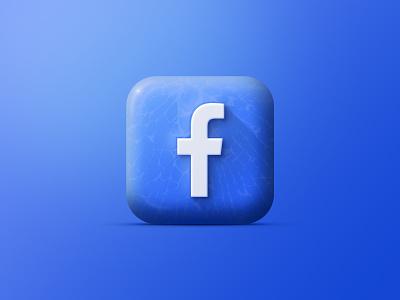 faceebook app icon, iOS 14 vector color app icon animation logo branding dark illustration