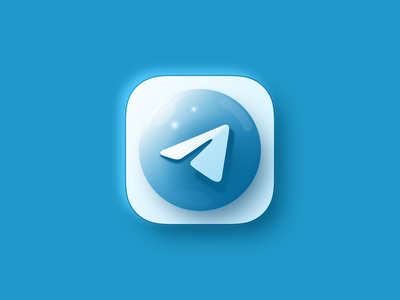 telegram app icon inspiration illustration color dark branding ux icon typography vector design