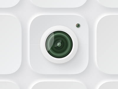 Lens app color icon flat smart design logo ui app icon branding color illustration