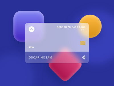 Bank card minimal typography dark logo ux illustration color branding card bank