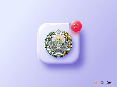 NY notification typography logo color dark vector design app icon branding illustration