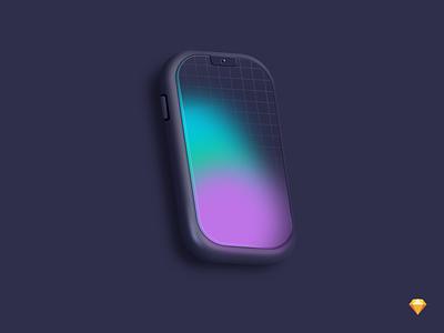 iPhone mockup iphone icon logo dark branding color illustration