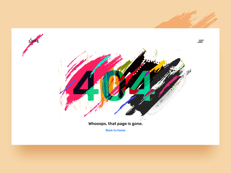Whoops!!! 404 error page web ui ux dashboard typography material art logo branding vector illustration 404