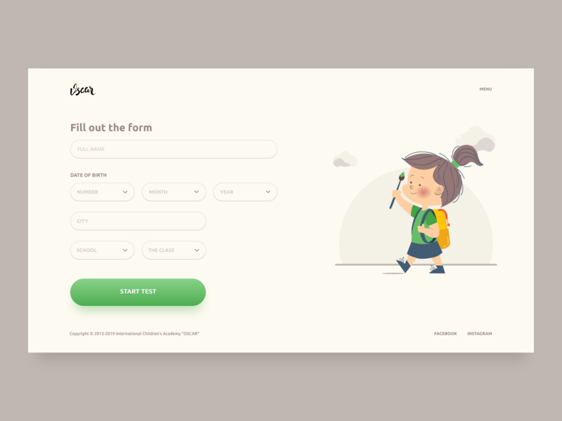 Pass the test gradient button form vector color app design dashboard typography branding material dark illustration