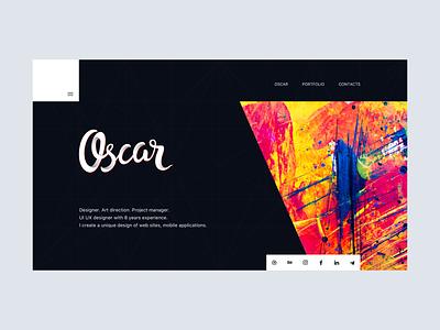 Personal site concept grid pattern app dark portfolio website logo ux homepage typography branding design color illustration