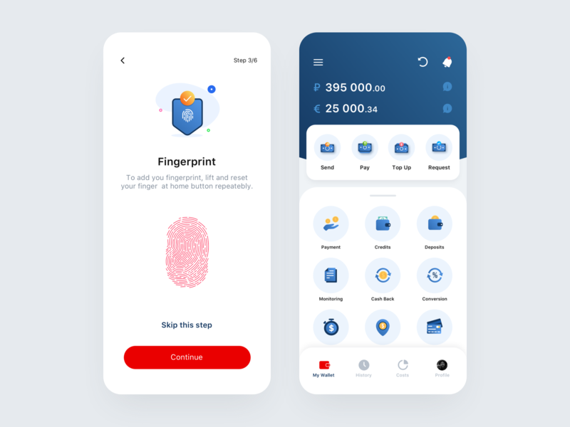 Bank App #2 logo color icon design typography ux illustration tabbar icons finance pay bank