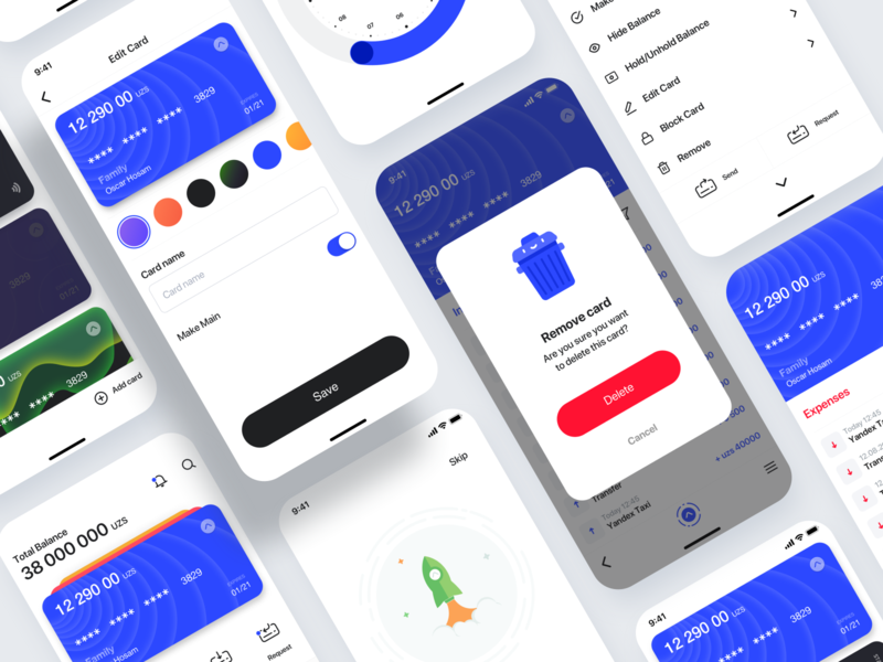 On Line Bank part 2 ux icon logo menu main onboarding pay card banking typography branding color illustration