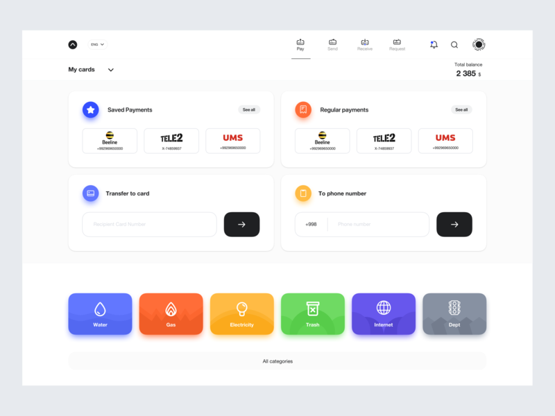 Payment system web version animation design typography dashboard ui logo illustration color card bank transfer pay