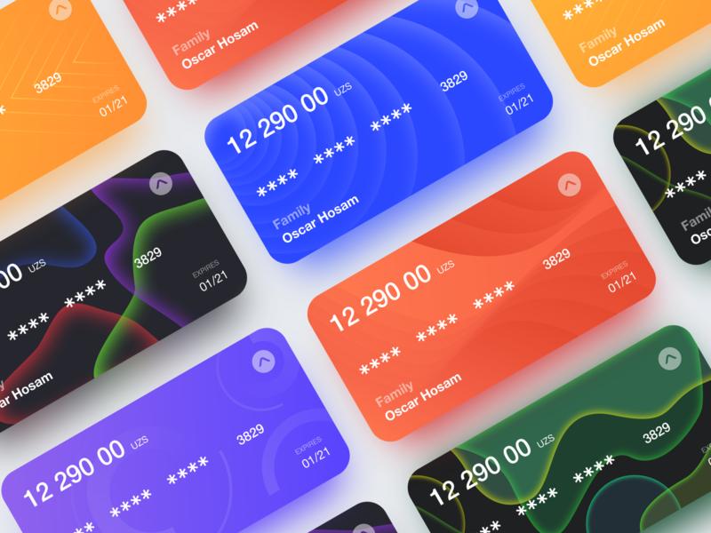 Bank cards design pay vector design typography ux branding illustration card bank