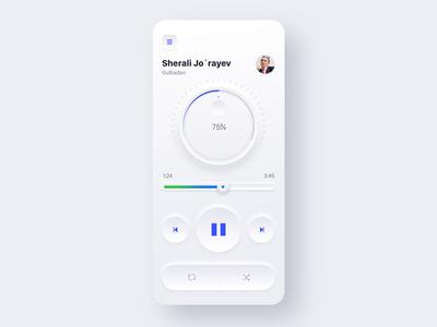 Skeuomorphic Music Player Light version