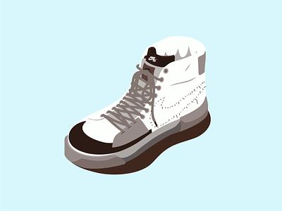 Nike Zoom Blazer 👟 illustrator artwork colors design art vector color flat nike shoes illustration