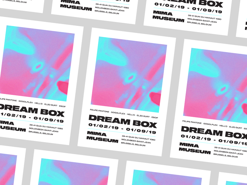 Dream Box | Museum Poster Design psychedelic dream typography poster posters swiss design swiss swiss type poster art art poster design poster design typography type