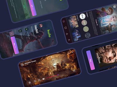 hulu app gaurav disney netflix player figma tutorial figma design daily ui branding app design figmadesign figma movies app movies hulu