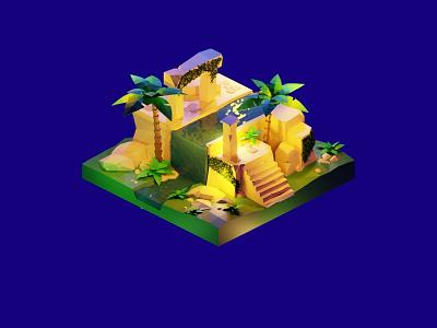ancient ruins blender3dart blender3d blender 3d illustration 3d modeling 3d artist 3d art 3d