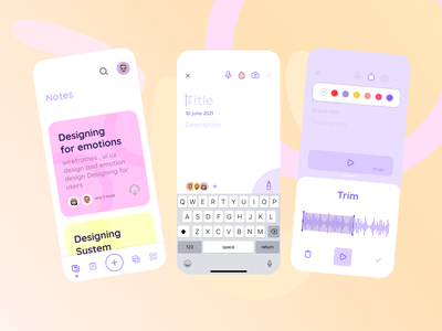 Fab Notes animation mobile prototype voice notes app note figma design daily ui design branding figmadesign figma