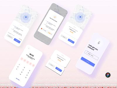 Taxi App ui 3d logo illustration blender app design branding figmadesign figma