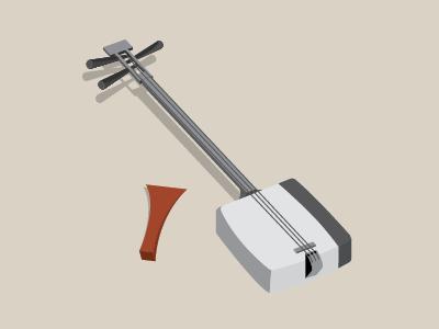 Shamisen Illustration