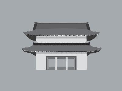 Asakusa Illustration  vector illustration japanese temple asakusa flat design