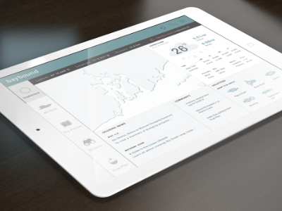 BayBound dashboard ipad tablet dashboard boating ux ui planner trip