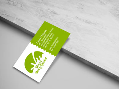 Dairy Business Card art illustrator vector dairy creative corporate identity abstract flat clean psd photoshop illustration advertising graphic design milk branding logo business card