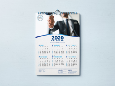 2020 Calendar logo ux visual design abstract clean modern vintage flat illustrator photoshop branding real estate corporate illustration psd mockup graphic design calendar
