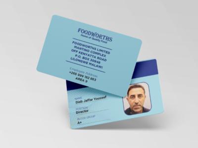 Foodworths ID Card free template food graphic design vector flat mockup brand identity branding corporate company psd illustration photoshop illustrator businesscard logo id card
