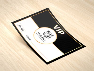 King Steel VIP Card template psd photoshop vip branding identity corporate abstract clean flat creativity art illustrator vector mockup advertising graphic design illustration sticker card