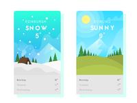 Flat Weather App