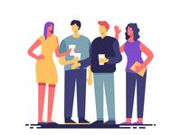 Friends gathering illustration
