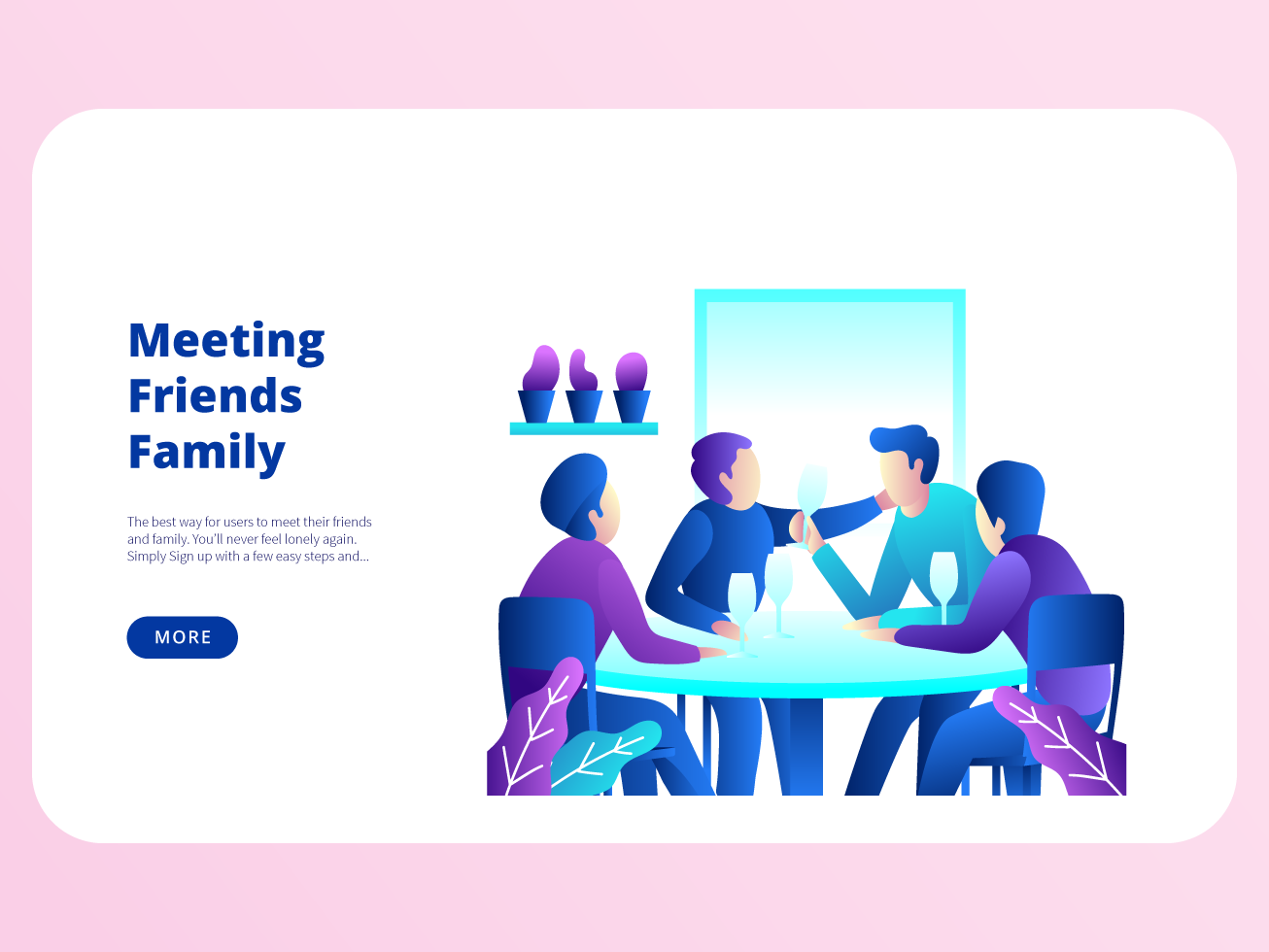 Meeting Friends Family by Steven Telfer on Dribbble