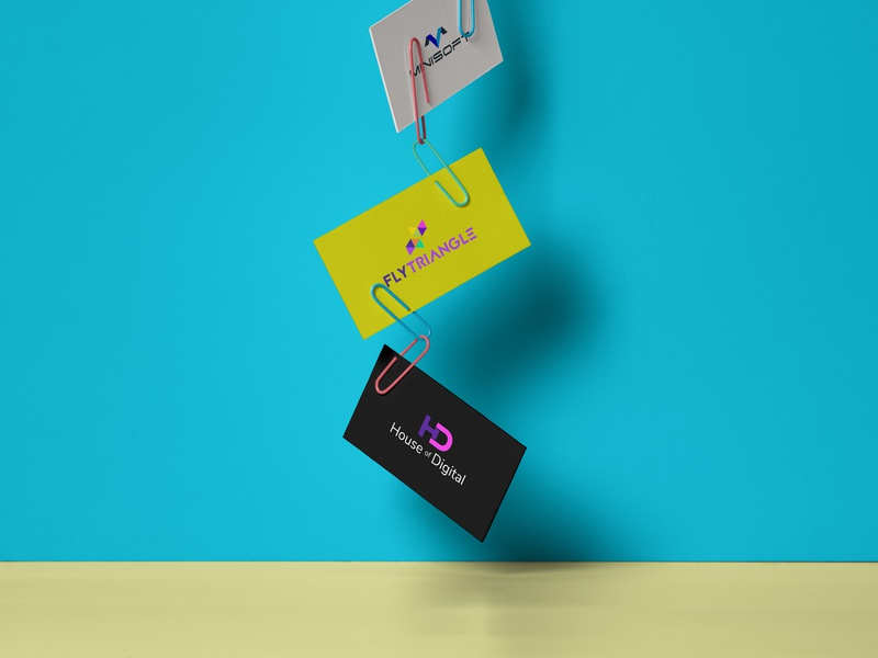 Clipped Business Card vector design landing art photoshop mockup visual ux web icon clean visual communication typogaphy ui illustration corporate branding branding logo psd businesscard