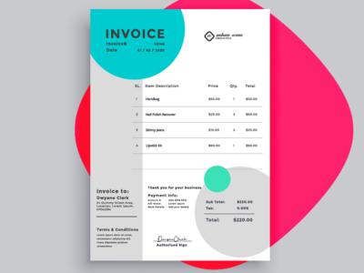 Invoice concept