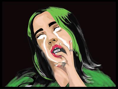 Bilie Eilish design vector art billie eilish ilustrator