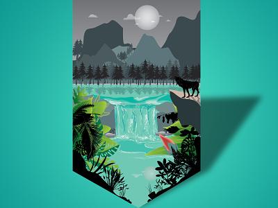 landscape ilustration design art vector illustration vector art landscape illustration ilustrator